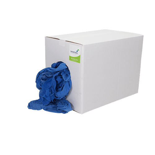 Blue Roll Towel Wipers Rags 5kg Box