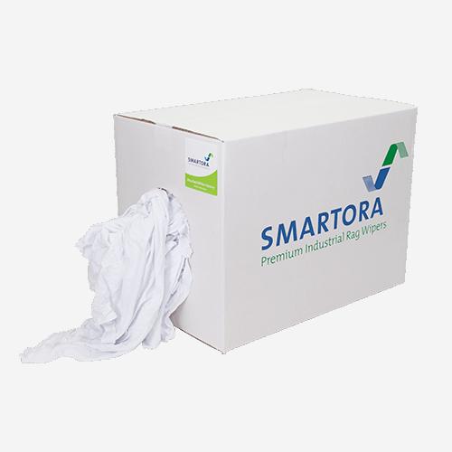 Bleached White Hosiery Rag Wipers Box