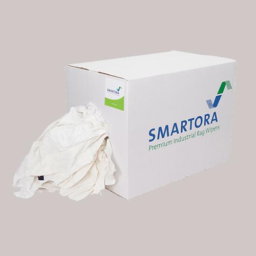 Mixed White Cotton Rags 10kg Box