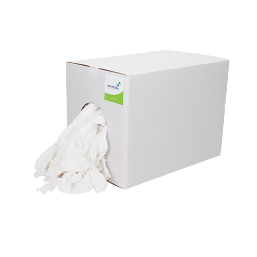 White Terry Hosiery Rag Wipers Box