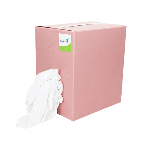 White Towel Rags Wipers Box