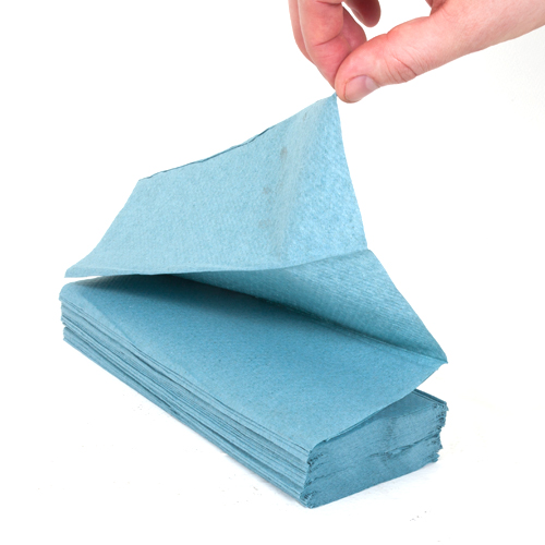 1ply blue z fold hand towels