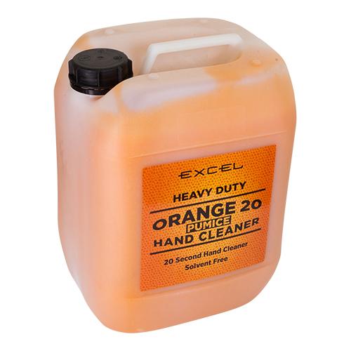 Orange pumice orange hand cleaner beaded
