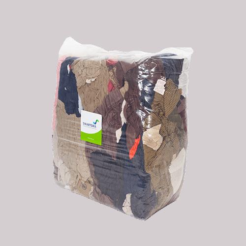 Coloured Cord Rags 10kg Bag